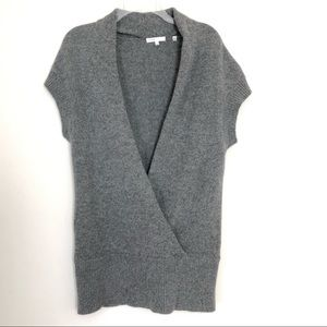 Vince solid gray knit sweater vest